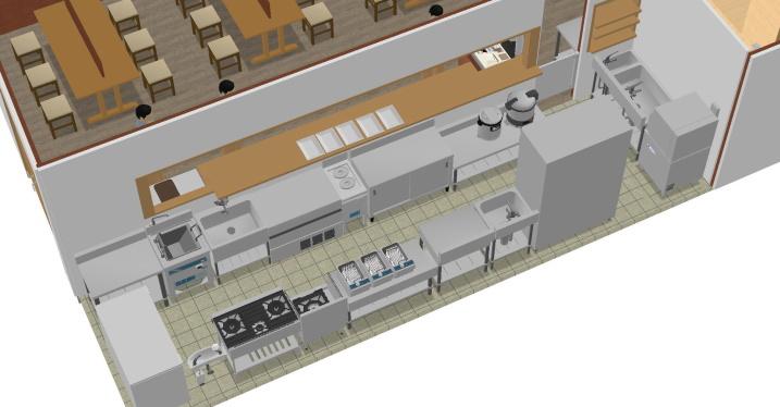 厨房3D図面