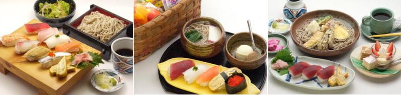 手打そばと寿司
